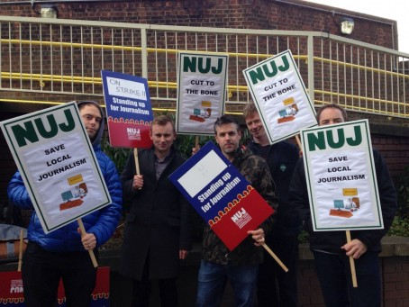 Journalists on the South London picket line