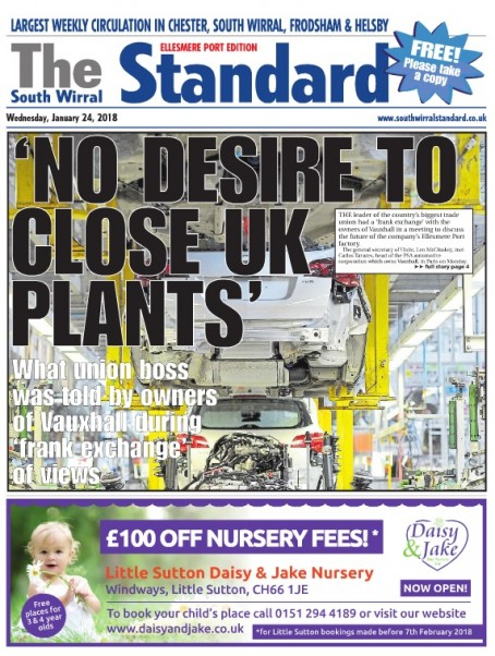 Last week's Ellesmere Port edition of the South Wirral Standard