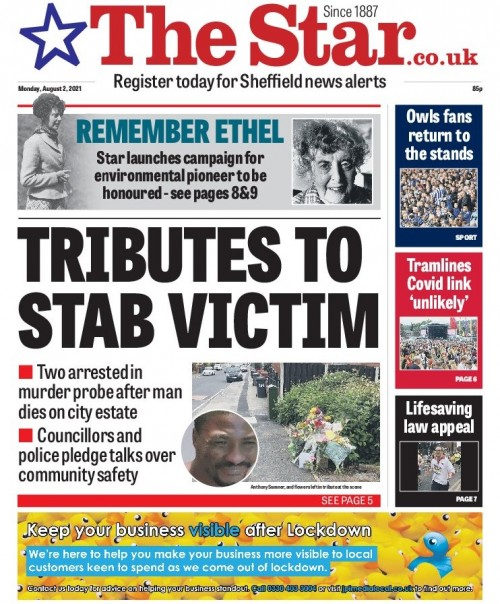 The campaign's launch featured on the front page of Monday's Star