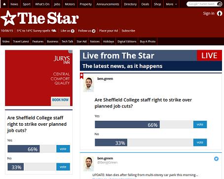 Star live news blog