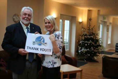 Allen Whittaker, chief executive, and fundraising manager Angela Gray at Beechwood Cancer Care, thank Express readers for their involvement in the appeal