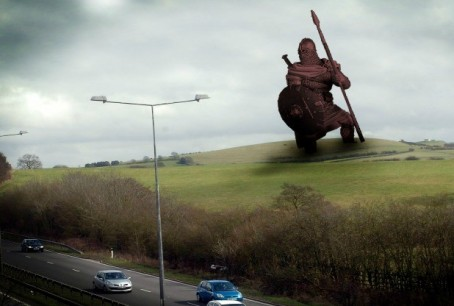 An artist's impression of how the statue could look