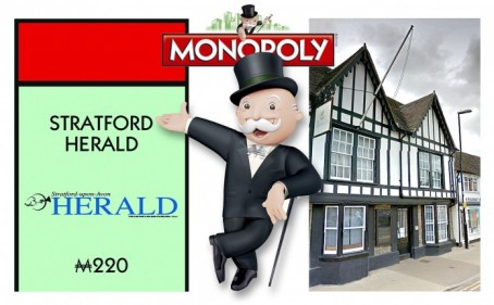 The Herald will occupy the 'Fleet Street' space on the Stratford edition of Monopoly