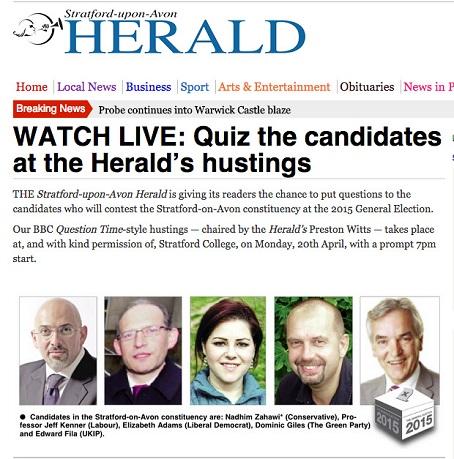 Stratford Herald hustings