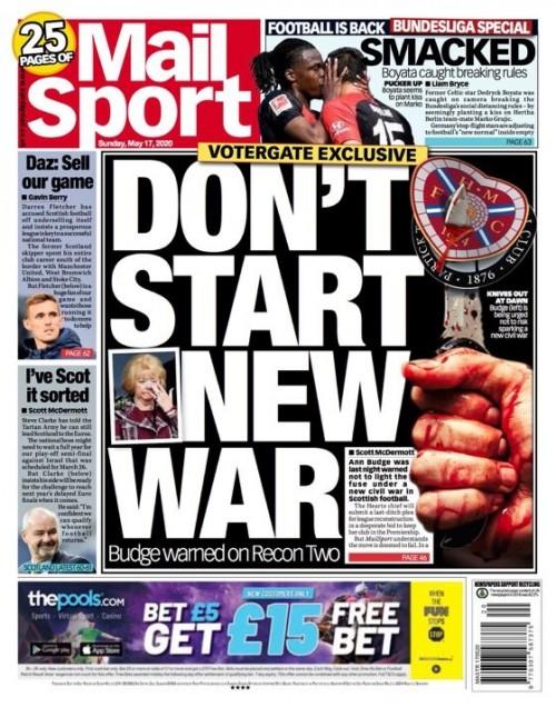 Sunday Mail back page