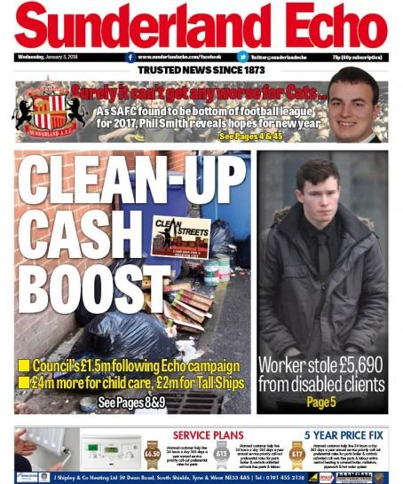 Sunderland clean