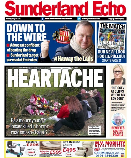 Monday's edition of the relaunched Echo