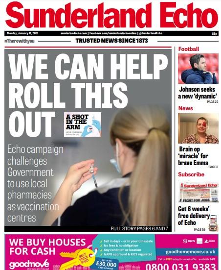 Sunderland vaccine