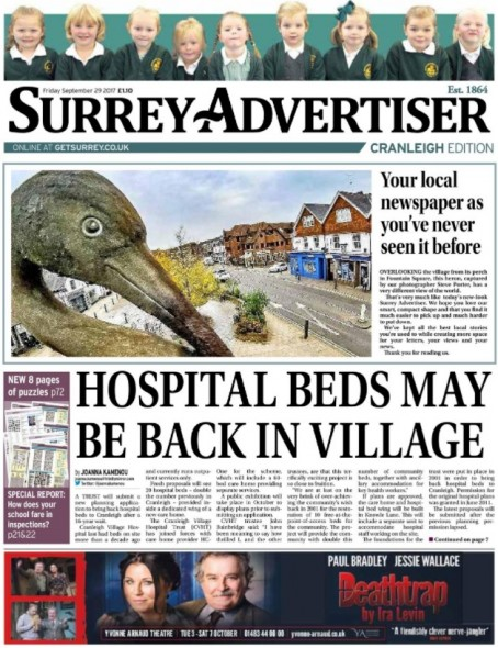Friday's Cranleigh edition of the new look Advertiser