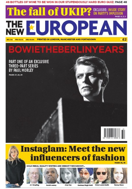 Today's edition of The New European