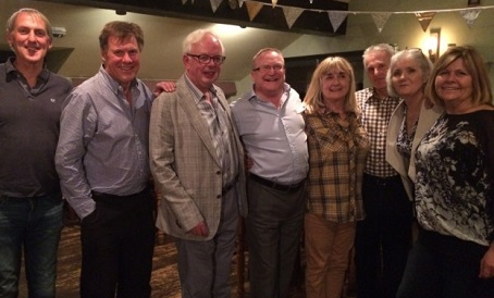 Terry Mitchinson, centre, celebrates his 40th anniversary at the Welwyn Hatfield Times with staff from 40 years ago.