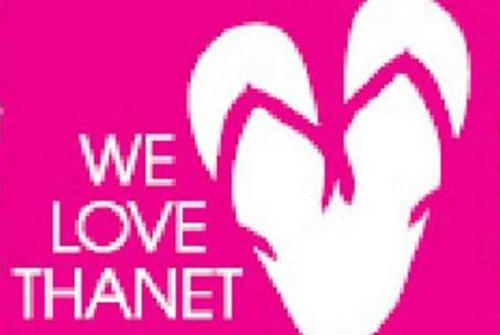 The We Love Thanet campaign logo