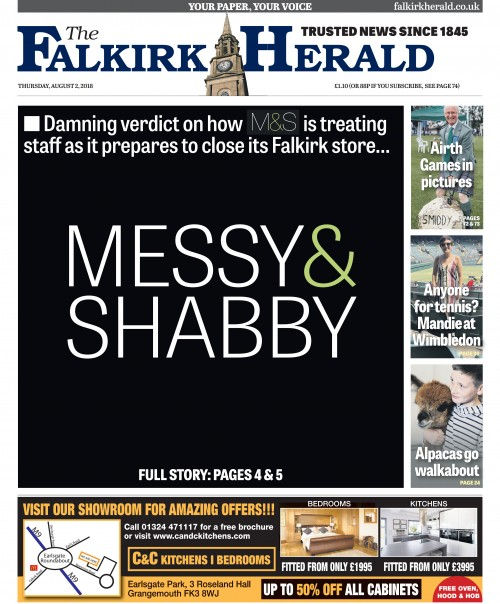 The Falkirk Herald - MESSY & SHABBY