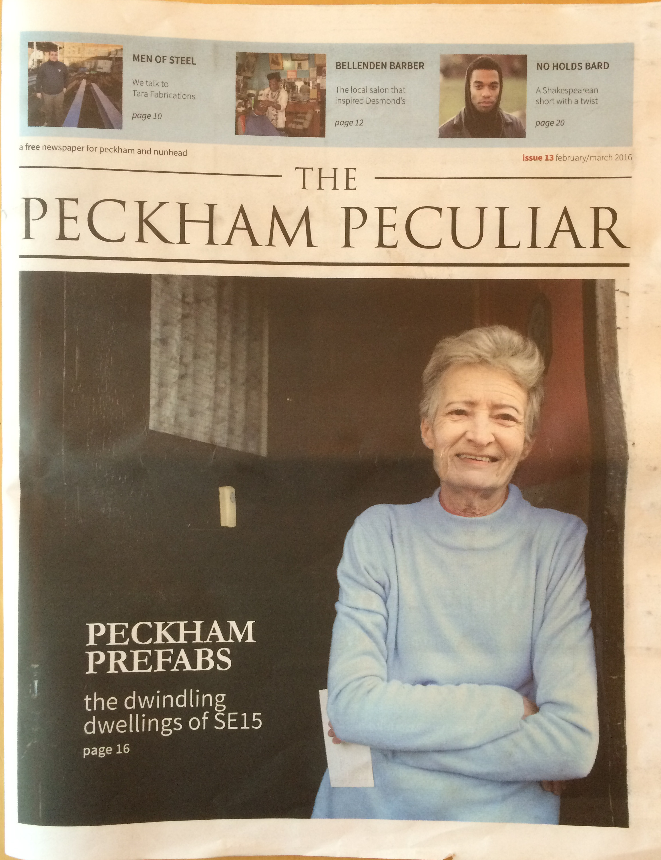 I got hold of the latest edition of The Peckham Peculiar – a free,  hyperlocal newspaper published every two months – to find out.