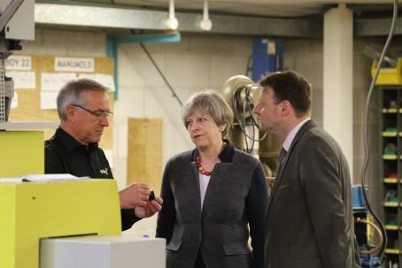 Theresa May during this morning's visit