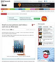 The Tamworth Herald is offering the chance to win an iPad Mini, which will go to the writer of the year's best 'citizen journalist'