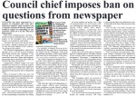 Council's bid to ignore weekly is 'attack on democracy' say industry leaders