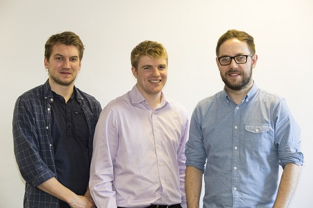 New Sportsbeat recruits (from left) Tom Bradley, Andrew and Phil