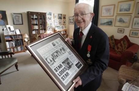 Tony Pyatt turned 100 on Friday