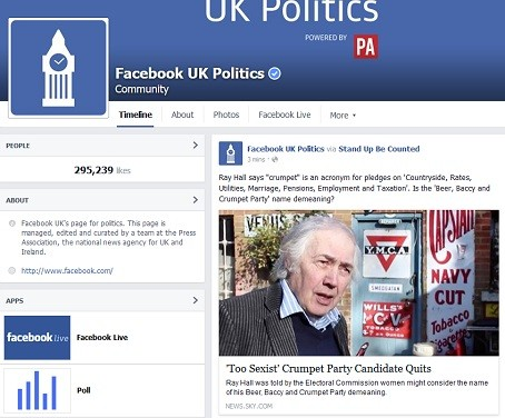 Press Association powers new Facebook election page