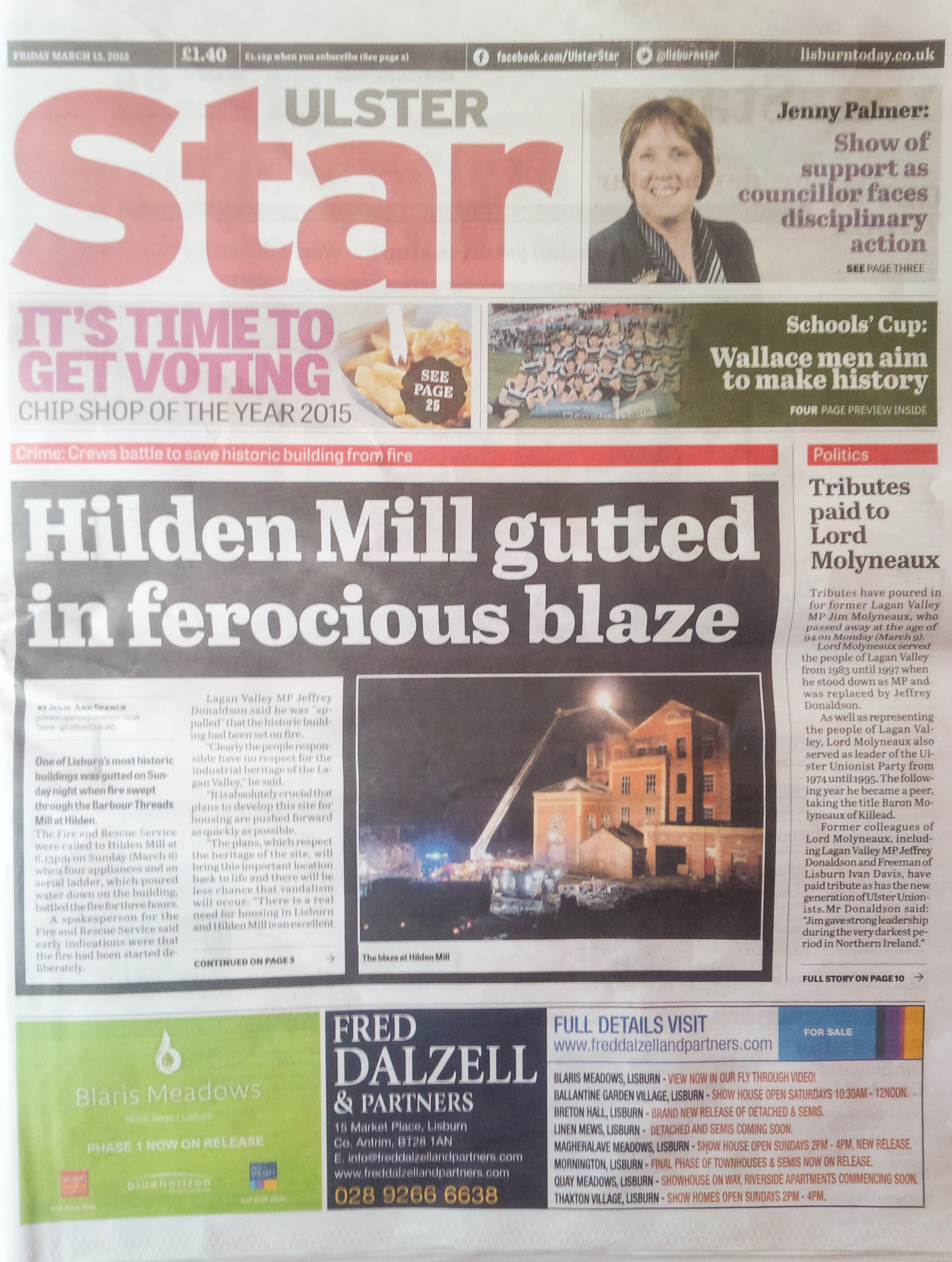Ulster Star front