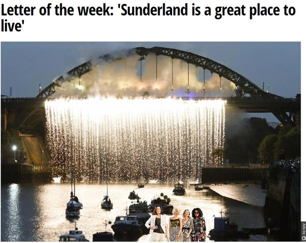 How the letter appeared on the Sunderland Echo's website