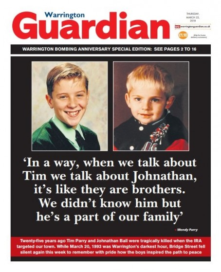 This week's Warrington Guardian front page