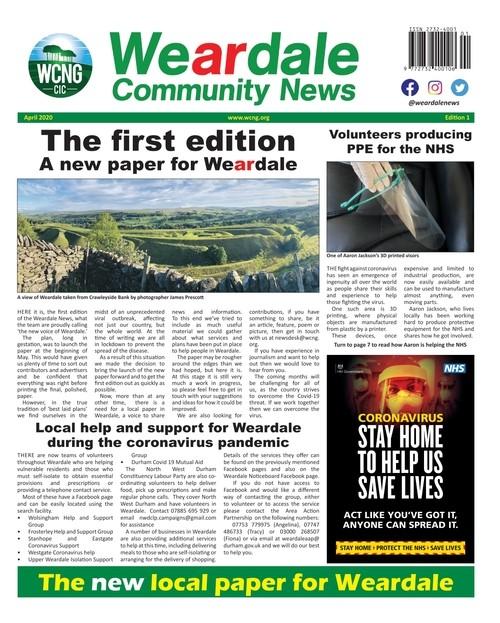 Weardale Community News