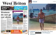 The paper responded to McIntosh's Instagram challenge (right) with another front page piece