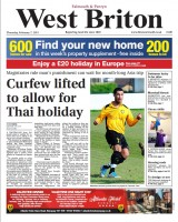 Where the trouble began... the original front page highlighting magistrates' decision to lift McIntosh's curfew so he could go on holiday