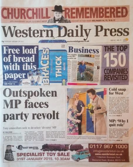 Western Daily Press p1