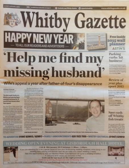 Whitby Gazette page 1