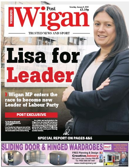 Ms Nandy revealed her candidacy in the Wigan Post