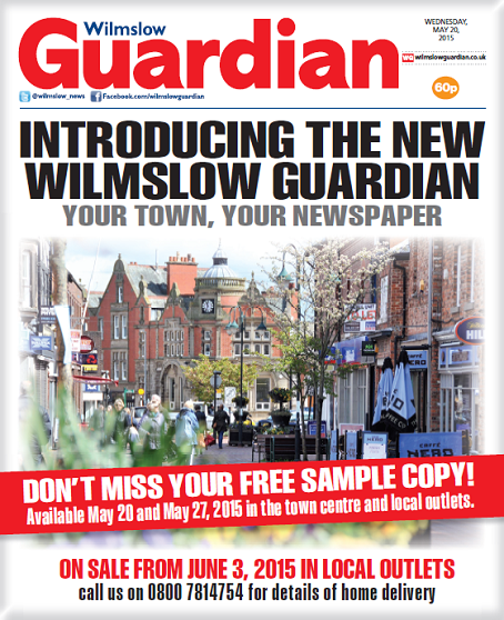 A promotional poster shows how the new Wilmslow Guardian will look.