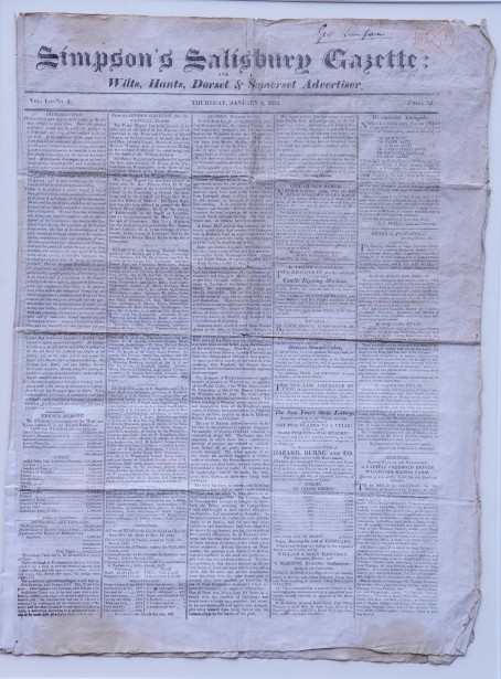 The original edition of Simpson's Salisbury Gazette