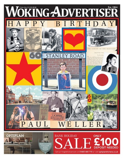 Woking Advertiser - Happy Birthday Paul Weller