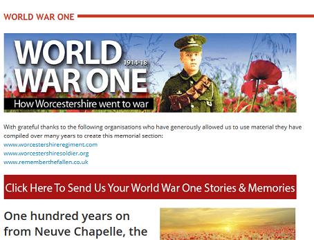 Worcester News war memorial
