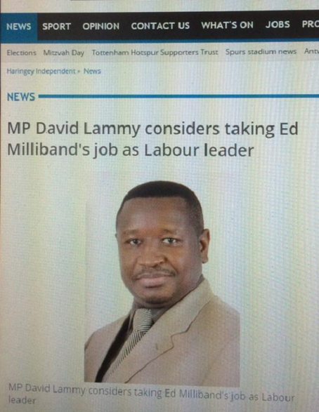 The photo of Julius Maada Bio which was used by the Haringey Independent.