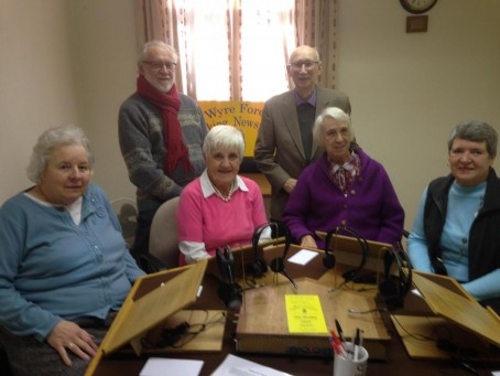 Volunteers at the Wyre Forest Talking Newspaper