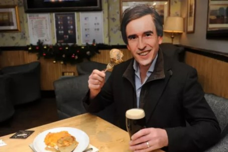 Neil Hudson completes' the 'first day' with the aid of an Alan Partridge mask