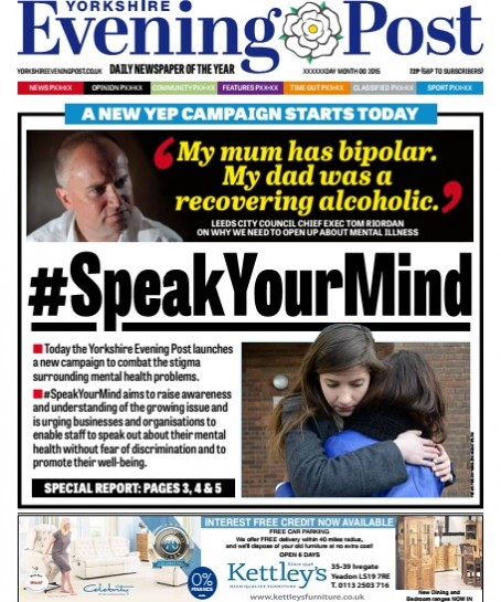 Yorkshire Evening Post Campaigns To End Mental Health Stigma