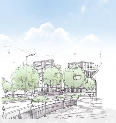 An artist's impression of how the Prospect House site could look if redeveloped