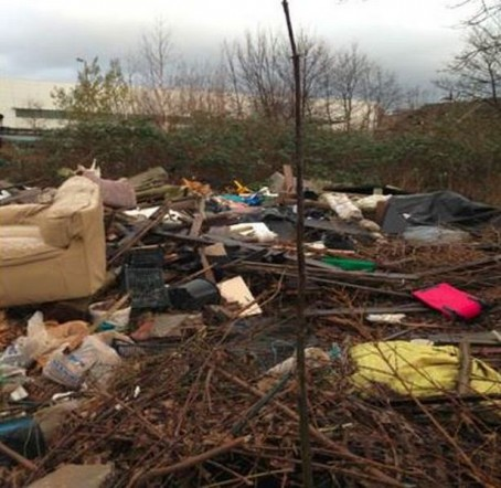 A picture of a fly-tipping site tweeted by Birmingham City Council