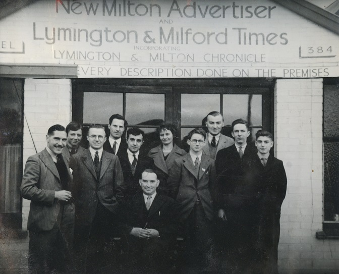 charles fourth from right with his father and staff in the 1950s