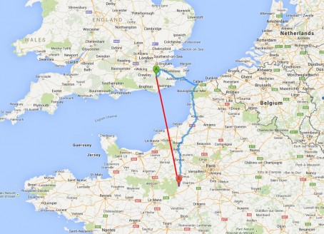 Friaize lies almost 200 miles south of Tunbridge Wells
