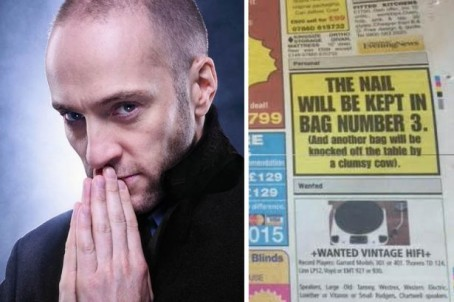 Derren Brown, left, and the mysterious advert