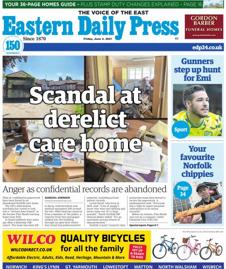 The EDP splashed on Sabrina's investigation on Friday