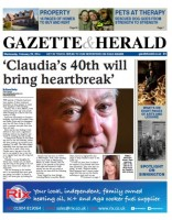 This week's edition of the Gazette & Herald, the first title to be produced on the new Newsquest system