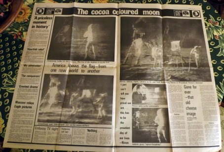 The Echo's inside spread on the Moon landings. Picture from Nic Outterside.