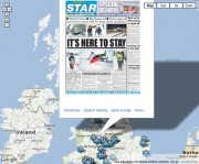 David Higgerson created an interactive map to showcase front pages across the country.